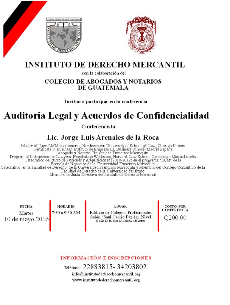 AUDITORIA LEGAL 2016