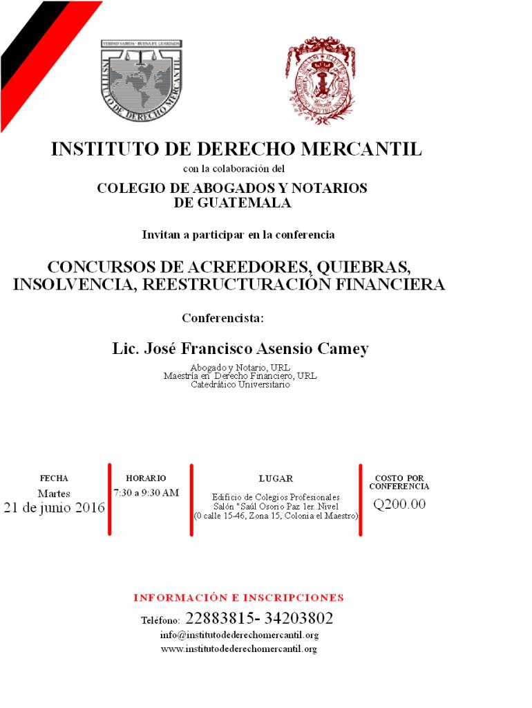 CONCURSOS DE ACREEDORES,, QUIEBRAS, INSOLVENCIA REESTRUCTURACION FINANCIERA 2016