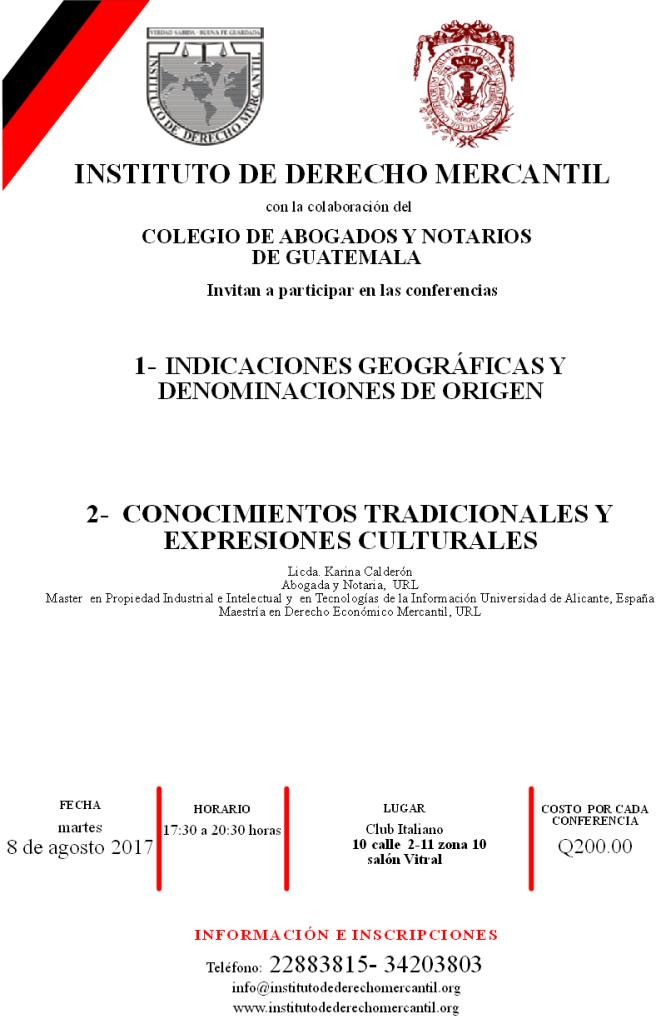 CONFERENCIAS MARTES 8 DE AGOSTO 2017 CPADMC
