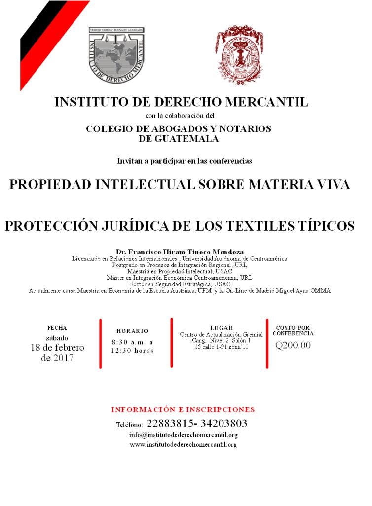 CONFERENCIAS SABADO 18 DE FEBRERO 2017
