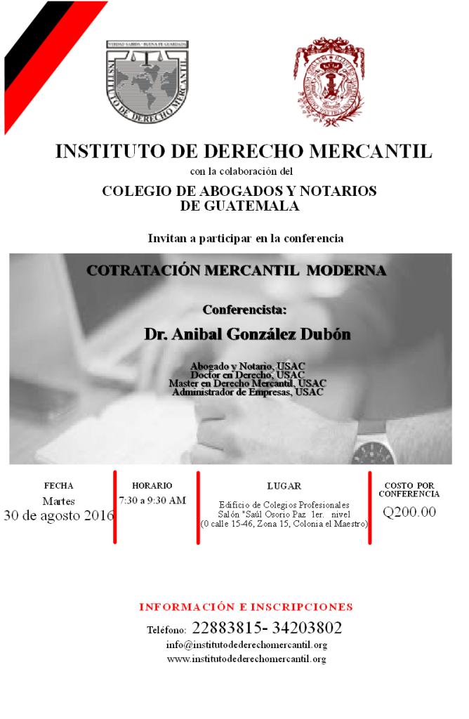 CONTRATACION MERCANTIL MODERNA  2016