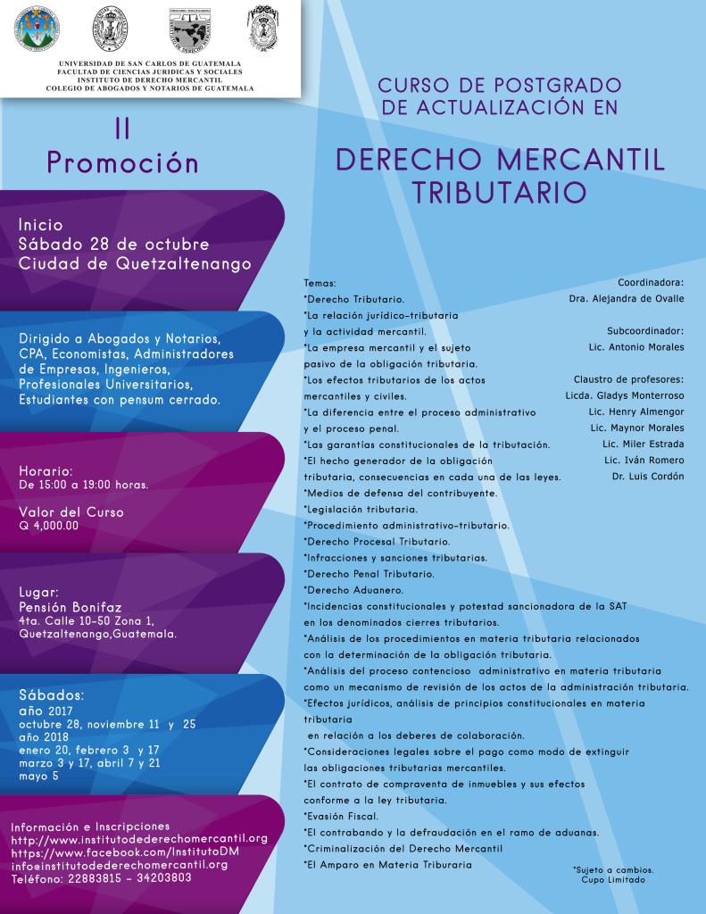 Derecho Mercantil Tributario 2Promo