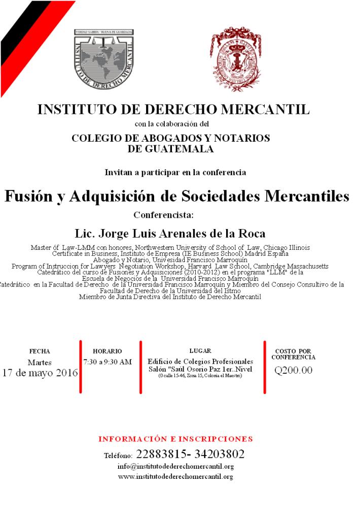 FUSION Y ADQUISICION DE SOCIEDADES MERCANTILES 2016