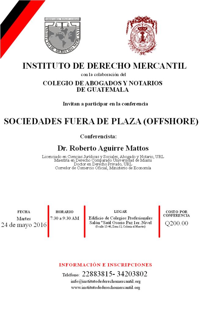 SOCIEDADES FUERA DE PLAZA (OFFSHORE) 2016